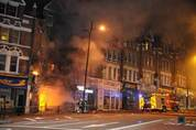 shop front on fire