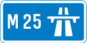 M25 sign