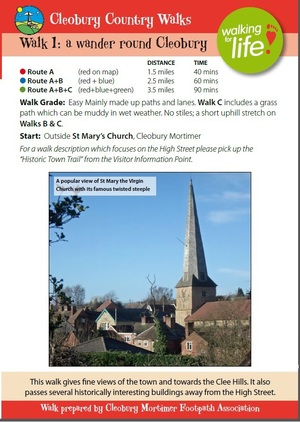 Cleobury Mortimer Walk Leaflet