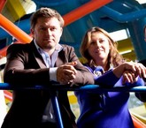 Marketing Stockport Co-founders Richard Higginson (L) and Helen White (R)