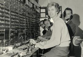 Stone telephone exchange 1950s
