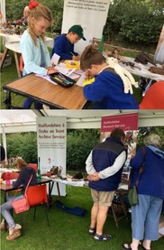 Visitors enjoying the museum and archives activities at Sandon Fete