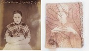 Image of female prisoner and quilt inspired by the photograph