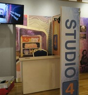 Live TV studio activity