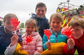 children smiling at event