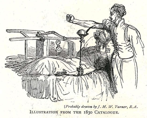 Illustration of a 19th century blood transfusion (D1349-11)