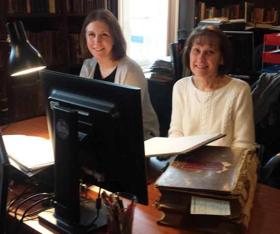 Jo and Anita starting work on the Asylums Project