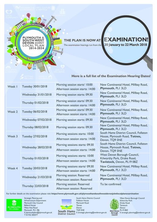 JLP Hearing Dates 2018