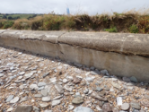Torcross damaged wall