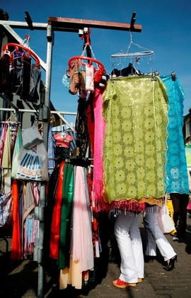 Market stall clothes