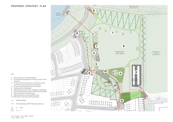 Cheney Row Park design and key
