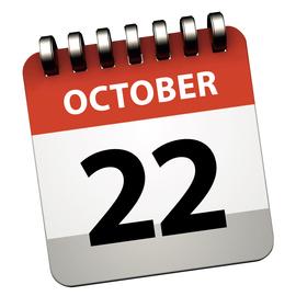 October 22 calendar block