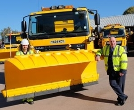 Cllr Clarke with new gritter