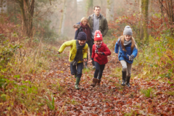 Picture of family in winter woodland