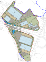Map of Redditch development area