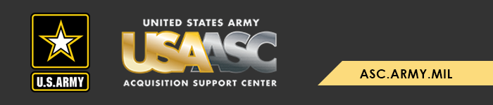 US Army Acquisition Support Center banner graphic