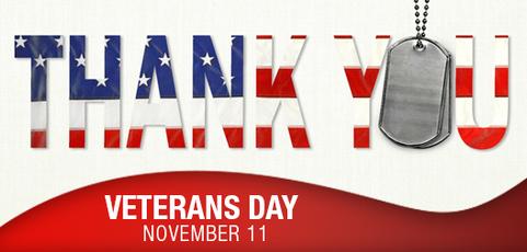 Thank You - Veteran's Day - November 11