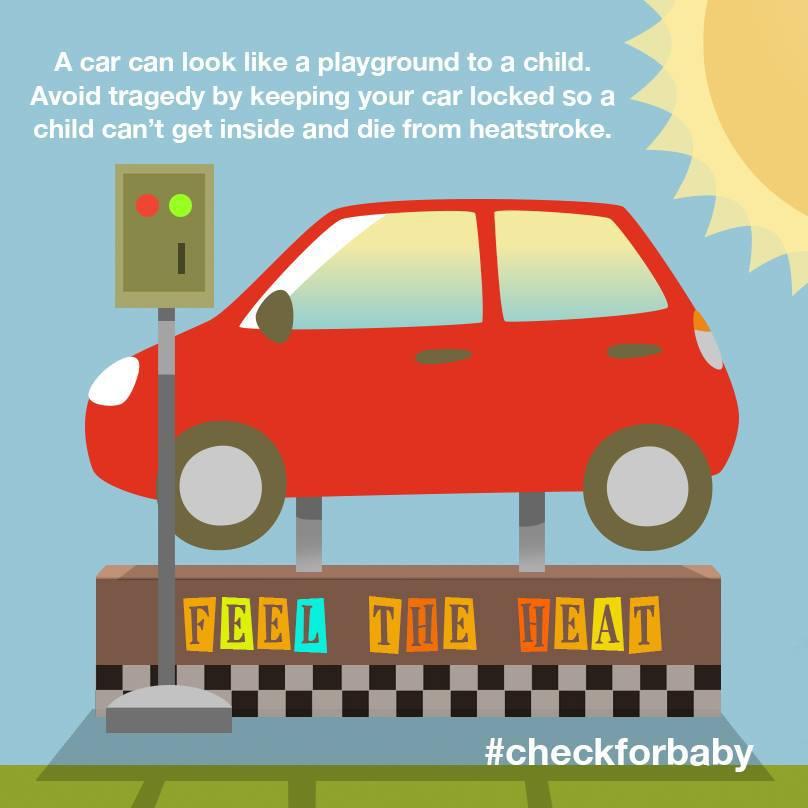 Heatstroke is deadly for children left in hot cars