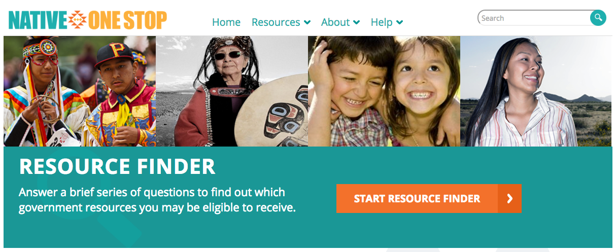 Native One Stop Resource Center: <a href=