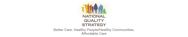National Quality Strategy: Better Care. Healthy People/Healthy Communities. Affordable Care