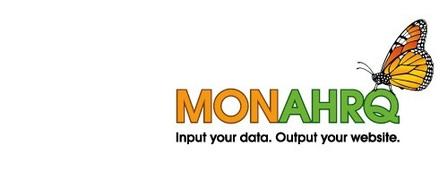 MONAHRQ Logo. Input Your Data. Output your website.