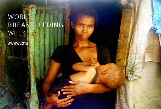 Mother breastfeeding her child