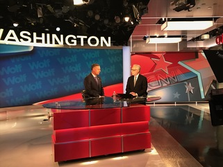 Scott speaks with Wolf Blitzer
