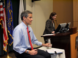 Dr. Richard Besser of ABC News speaks at CDC.