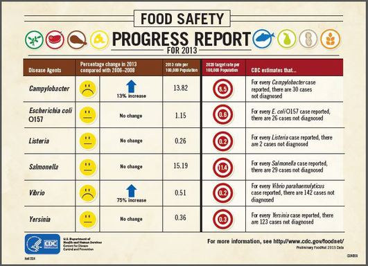 Nation's annual Food Safety Report Card for 2013