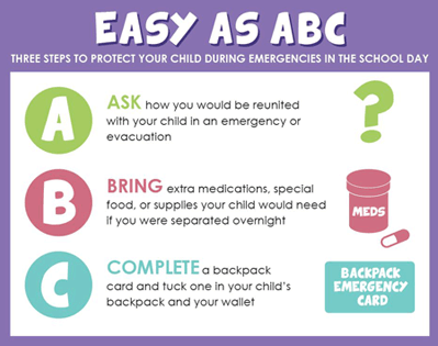 Three steps to protect your child during an emergency during the school day
