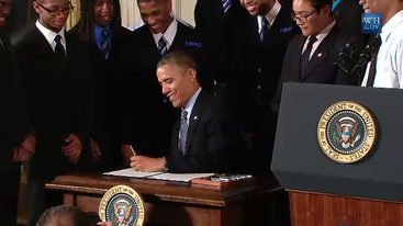President Obama announces the My Brother's Keeper initiative on February 27, 2014.