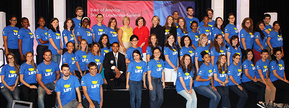 Shriver AmeriCorps Fellows with CEO Wendy Spencer at the launch of Shriver Corps on July 17, 2014.