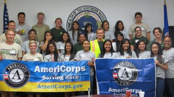 AmeriCorps members with TXCC and CCMNI - along with AmeriCorps CNMI partner together