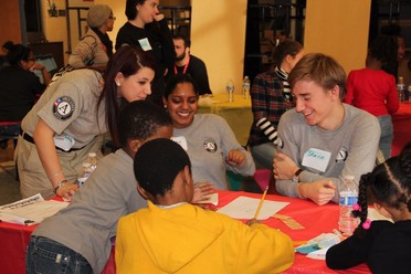 AmeriCorps members serving during MLK Day
