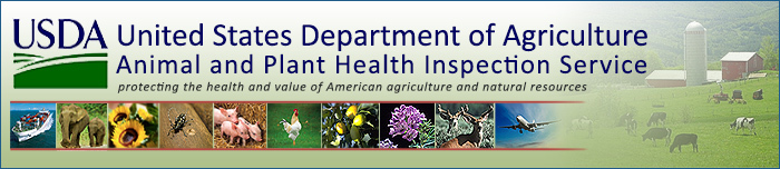 USDA APHIS Header