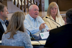 Agriculture Secretary Sonny Perdue hosting a task force listening session.