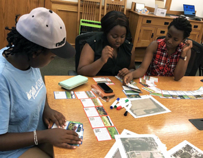 CUSP students selecting the right habitats for monarchs during the Monarchs on the Move Challenge,