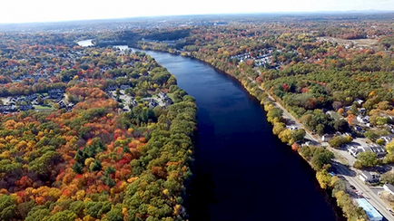The Merrimack River. Photo provided by the Army Corps of Engineers, New England District.