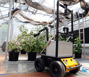 Bramblebee autonomous robot. Image provided by West Virginia University.