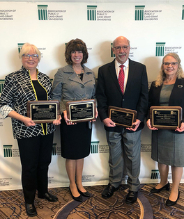 From left to right: Dr. Virginia M. Moxley, Dr. Caroline E. Crocoll, Dr. Rick Lewis, and Dr. Judy Harrison.