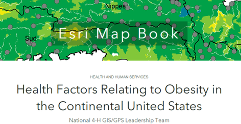 4-H GIS/GPS Leadership Team ESRI map book image