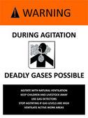 Safety precautions must be taken when agitating both open and closed manure storages.