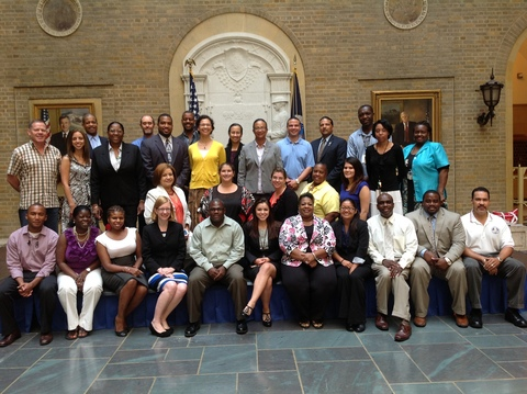 NRCS-CB Civil Rights Committee members pose with fellow students at SEPM training.