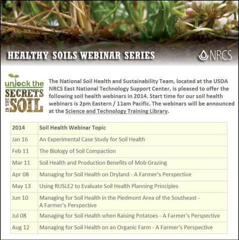 Healthy Soils 2014 Webinars