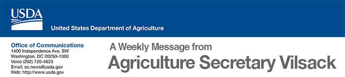 Header - A Weekly message from Agriculture Secretary Vilsack