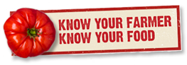 Know your farmer, know your food logo