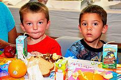 Children enjoying a nutritious summer meal in Virginia