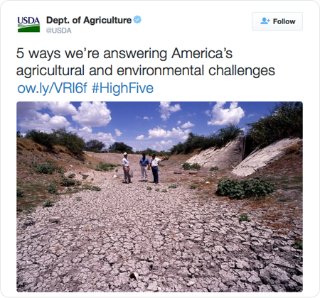 5 ways we're answering America's agricultural and environmental challenges http://ow.ly/VRl6f  #HighFive