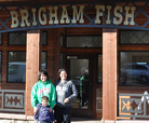 the newly opened Brigham Fish Market in Cascade Locks, Oregon