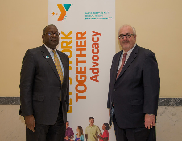 Kevin Washington, President and Chief Executive Officer, YMCA of the USA with Administrator Craig Fugate. Photo courtesy of YMCA of the USA/Liz Roll.